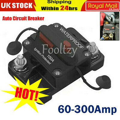 60A-300Amp Universal Circuit Breaker Audio Fuse Holder Switch for Car Auto Yacht