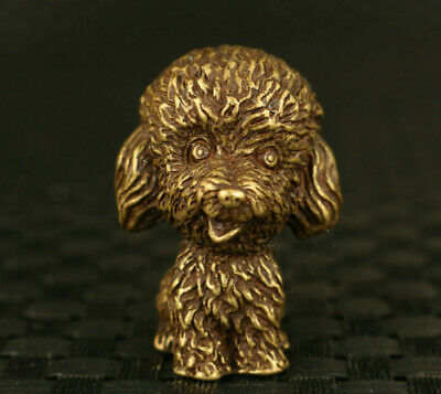 lovely chinese old bronze hand cast dog statue decoration collectable