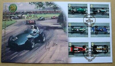 Grand Prix 2007 Buckingham Fdc Signed By Racing Driver Stirling Moss