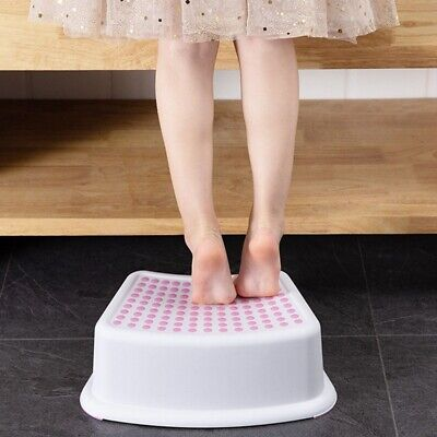 Non Slip Strong Utility Foot Stool Bathroom Kitchen Kids Children Step Up Elgtu