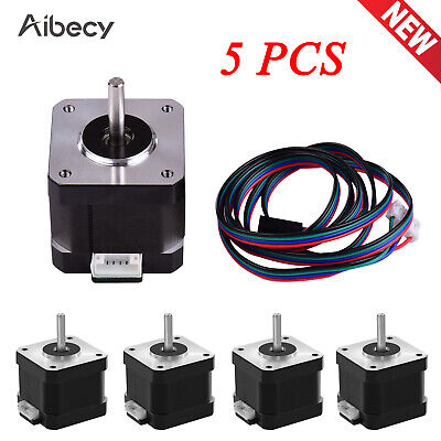 5pcs Aibecy 0.9 Degree 2 Phase 1-Wire 42 Stepper Motor For CNC 3D Printer P9K2