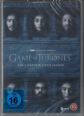 Game of Thrones Staffel 6 Neu und Originalverpackt 5 DVDs