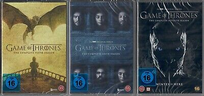 Game of Thrones Staffel 5-7 DVD Set (5+6+7, 5 bis 7) NEU OVP