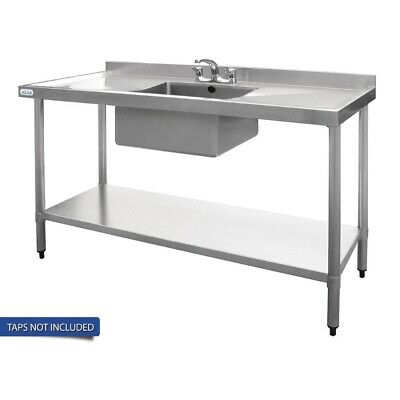 Vogue Single Bowl Sink Double Drainer - 1500mm 90mm Drain