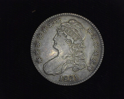 HS&C: 1831 Capped Bust Half Dollar XF - US Coin