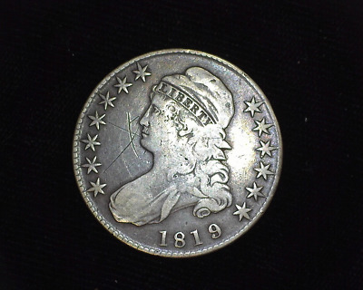 HS&C: 1819 Capped Bust Half Dollar F - US Coin