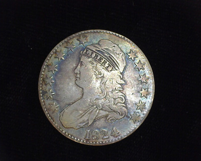 HS&C: 1824 Capped Bust Half Dollar F - US Coin