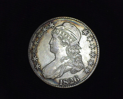 HS&C: 1826 Capped Bust Half Dollar VF/XF - US Coin