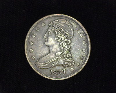 HS&C: 1837 Reeded edge Capped Bust Half Dollar XF - US Coin