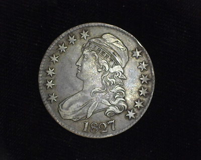 HS&C: 1827 Square base curl 2 Capped Bust Half Dollar XF - US Coin