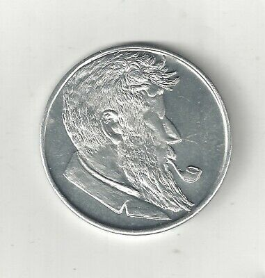 Vintage 1960 Nude Lady Woman Smoking Pipe Coin Token Medal Medallion Has Sharpe