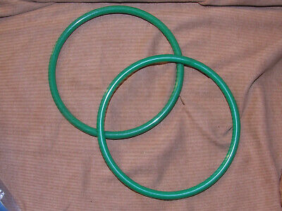 Vintage Large Purse Handles Green Plastic Ring Handles
