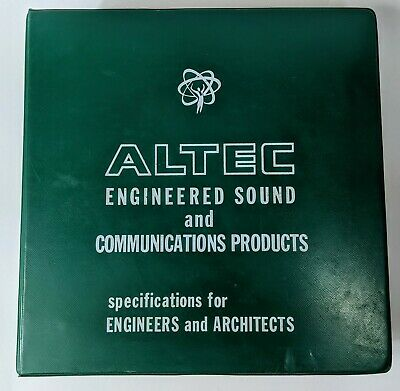 Altec Lansing Specifications Book For Engineers and Architects Vintage RARE