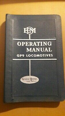 1958 General Motors Electro-Motive Division Operating Manual GP9 Locomotives