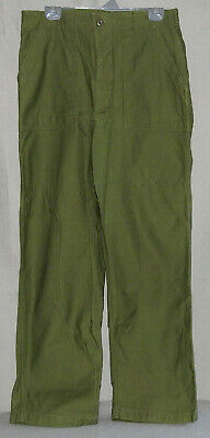 US Military Utility Trousers Cotton Sateen OG-107 size 34 X 31 Vietnam Era 1960s