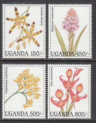 1995 Uganda orchids set of 4 MNH