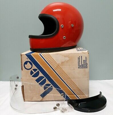 VINTAGE BUCO Full-Face Motorcycle Safety Helmet Solid Red NIB Adult Med 1970's