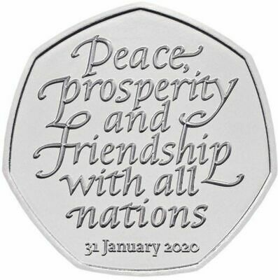 2020 Brexit 50p Fifty Pence Coin Uncirculated UNC Free Postage