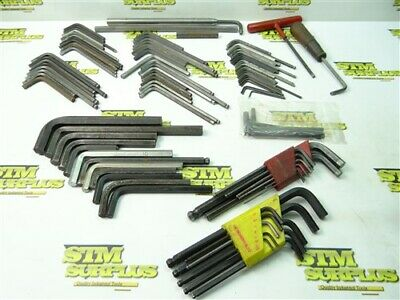 "Big Lot Of Assorted Hex Key Allen Wrenches 1/16"" To 9/16"" Unbrako Bondhus Poland"