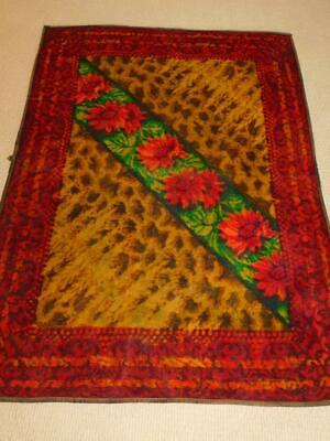 Antique Vintage STROOCK Horse Hair Buggy Blanket CARRIAGE Sleigh Lap Robe RED