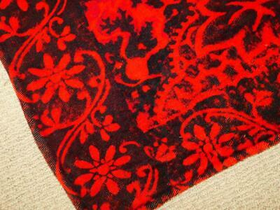 Antique Vintage Horse Hair BUGGY BLANKET CARRIAGE Sleigh Lap Robe RED BLACK