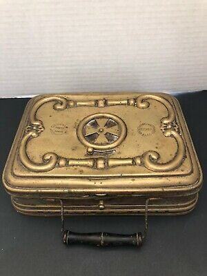 Antique French Brass Carriage Foot/Hand Warmer Box
