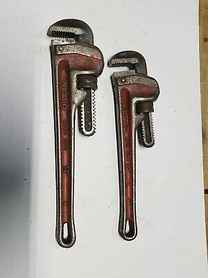 Lot Of 2 Ridgid Pipe Wrenchs 12 And 14 Inch