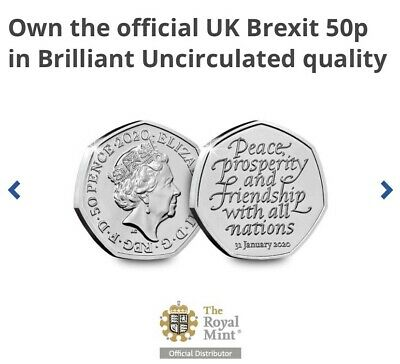 2020 Brexit 50p Fifty Pence Coin Uncirculated UNC