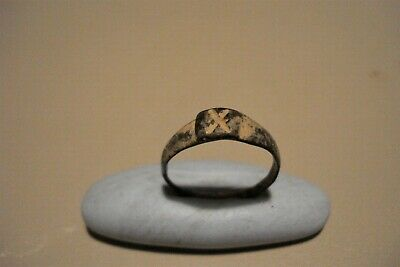 Genuine Ancient Roman Uncleaned Ring--Legio X--Julius Caesar--Detector Find