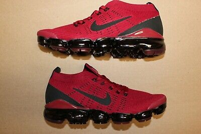 Nike Air VaporMax Flyknit 3 Size 9.5 Red Black Vapor Max