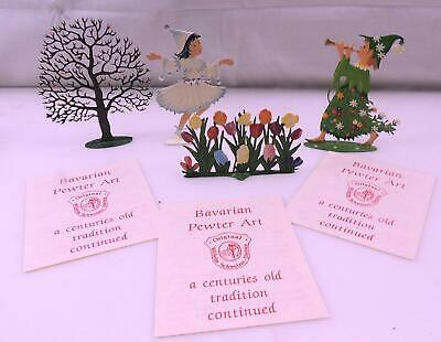Wilhelm- Schweizer- Zinnfiguren Lot Of 4 Pewter Items NIB With Tags (350)