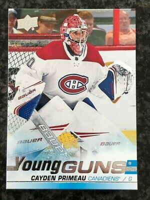 2019-20 Ud Series 2 Young Guns Montreal Canadiens Cayden Primeau! #454