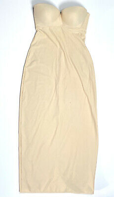 Davids Bridal 1123 36C Sold Out Full Length Shapewear Nude Slimming Strapless