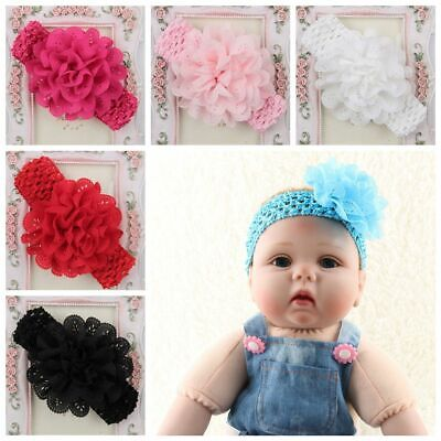 Fashion Girl Toddler Baby Stretchy Headband Headwrap Elastic Crochet Hairband