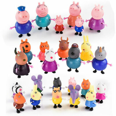 25Pcs Xmas gift Peppa Pig Family&Friends Emily Rebecca Suzy Action Figures Toys