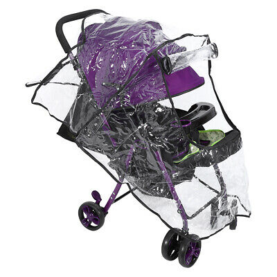 1x Baby Buggy Rain Cover Universal Pushchair Stroller Pram Buggy Clear Raincover