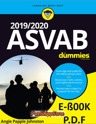 2019/2020 ASVAB for Dummies by Angie papple Johnston (Immediate Delivery)
