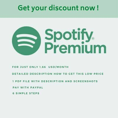 How to get Spotify Premium Account cheaper or even Free?