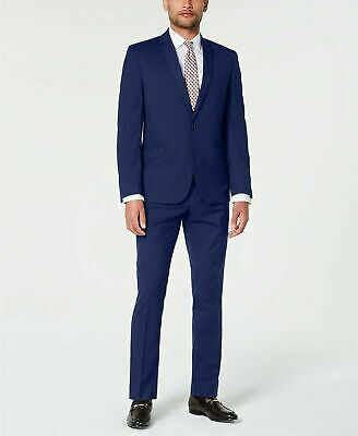 $300 Billy London Men's Slim-Fit Performance Stretch Suit 42R / 35 x 32 Blue