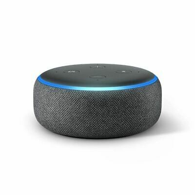 Amazon Echo Dot 3rd Generation Smart speaker with Alexa Charcoal Fabric New