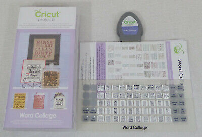CRICUT Shapes Cartridge Word Collage Projects Complete Loaded 2001096 Complete