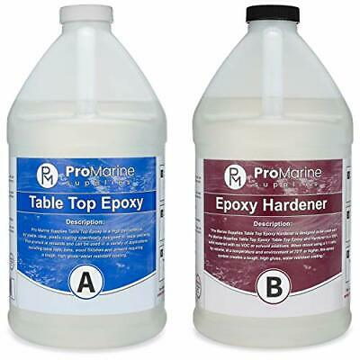 High Quality Epoxy Resin Coating For Wood Tabletop (1 Gallon Kit)