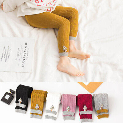 Girls Autumn Winter Pantyhose Cotton Knit Toddlers Baby Long Tights uk