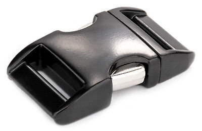 10 - 5/8 Inch Black Aluminum Side Release Buckles