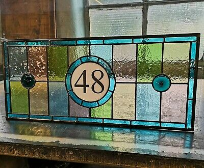 Victorian design Traditional Stained Glass Numbered Fanlights, made to measure
