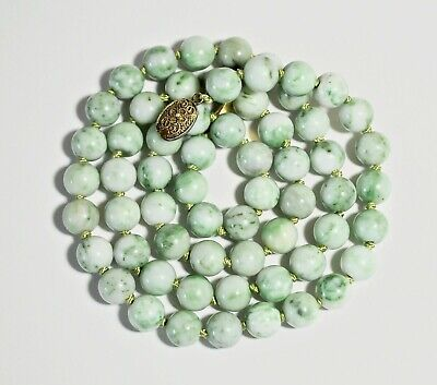 """Fine Old Chinese Natural Jadeite Necklace.  *27 3/4""""  *Large Beads."""