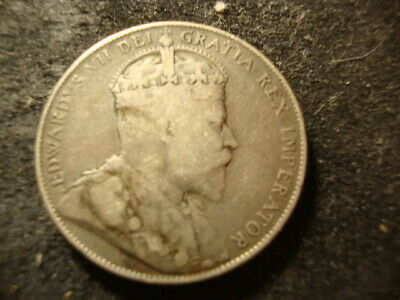 1907 G VG Dated Canada  Fifty Cents Decent Coin D2X