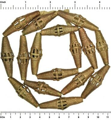 African brass beads Ghana trade Ashanti Akan metal lost wax bronze casting large