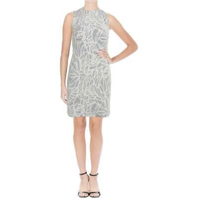 BOSS Hugo Boss Womens Epalla Black-Ivory Jacquard Wear to Work Dress L BHFO 1398