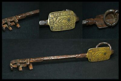 Massive Roman Bronze & Iron Ancient Key Circa 100-200 Ad Museum Quality Artifact